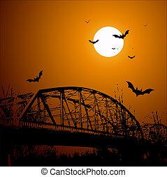 Old Horror Bridge - Conceptual Creative Abstract Design Art...