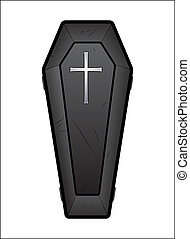 Coffin Vector - Creative Abstract Conceptual Design Art of...
