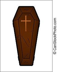 caixão, vetorial, Ilustração