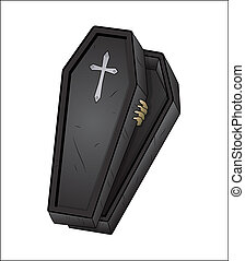 Halloween Coffin - Creative Abstract Conceptual Design Art...