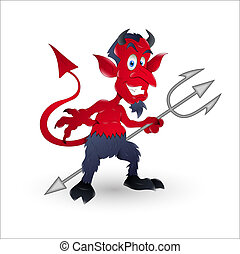 Evil Cartoon Devil Vector - Conceptual Design Art of Evil...