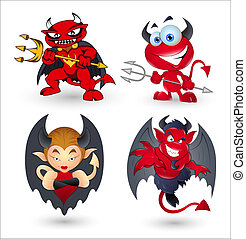 Cartoon Devils n Vampires - Creative Abstract Conceptual...