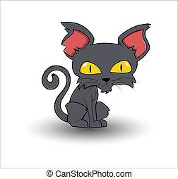 Horrible Cute Cartoon Cat - Conceptual Creative Design Art...