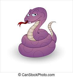 Funny Cartoon Snake Vector - Conceptual Creative Design Art...