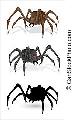 Spiders Illustartions - Creative Conceptual Design Art of...