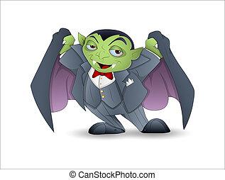 Cartoon Dracula Vector