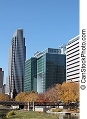 Downtown Omaha Nebraska Skyline - Skyline View of downtown...