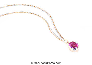 Pink sapphire necklace.
