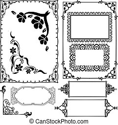 borders and frames - vector illustration