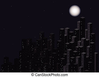 City at night. Vector