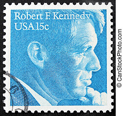 Robert F. Kennedy Stamp - UNITED STATES - CIRCA 1979: A...