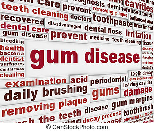 Gum disease warning message Dental disease poster design