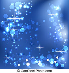 Glowing stars and boke - Background with glowing stars and...