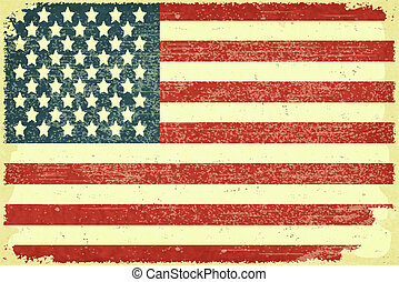 American Flag - Grunge poster - American Flag in Retro style...