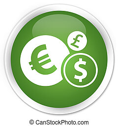 Finances icon green button