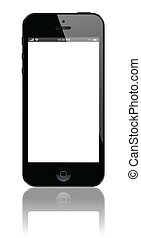Smart Phone vector - Smart Phone with blank screen isolated...