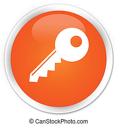 Key icon orange button