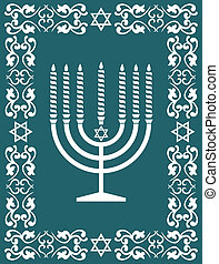 Jewish menorah ,holiday vector - Jewish menorah design ,...