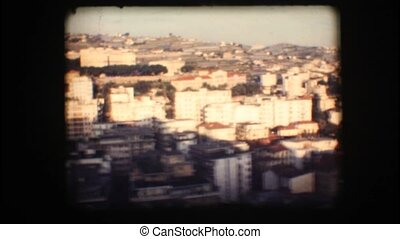 Vintage 8mm. Small Italian town - Vintage 8mm. View of San...