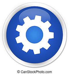 Process settings icon blue button