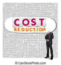Business word cloud for business and finance concept, Cost...