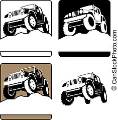 Off-Road Symbol - 4 off-road symbols You can place some text...