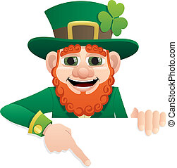 Leprechaun Sign 2 - Leprechaun holding blank sign You can...