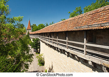 City wall of Rothenburg ob der Tauber - City wall of the...