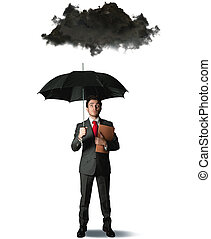 Pessimist in business - Businessman pessimist in the...