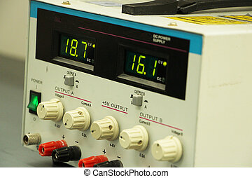 Power supply with digital display