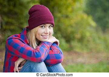 Young woman - Portrait of a young woman in autumn