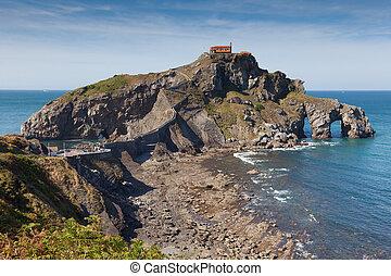 San Juan de Gaztelugatxe island, Bizkaia, Basque Country,...