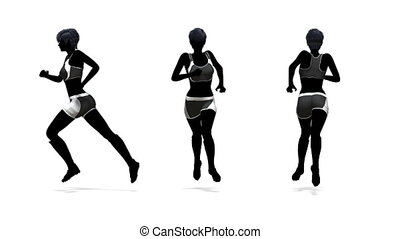 athlete - silhouette of woman athlete