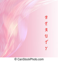 beauty wording with pink line attractive background