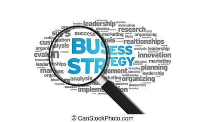 Business Strategy - Magnified Business Strategy Word Cloud...