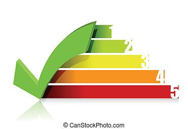 checkmark colorful graph illustration design