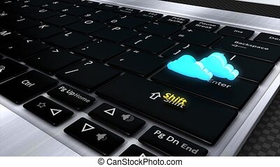 Cloud computing - Concept animation, Shift to cloud...