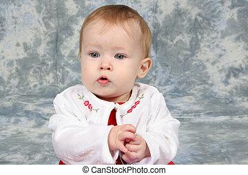 bebê, menina, Natal, Vestido, 2