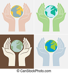 Save the planet icons