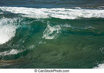 Crashing Wave on the Napali Coast, Kauai