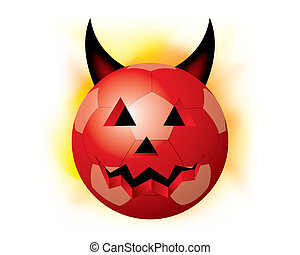 vector halloween sport ball - The abstract of halloween...