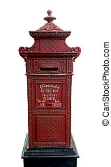 Isolated Letter-Box - Isolated beautiful vintage letter-box,...