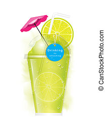 Vector lemon smoothie - The abstract of lemon smoothie in...