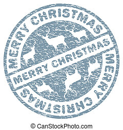 Christmas stamp template. EPS 8