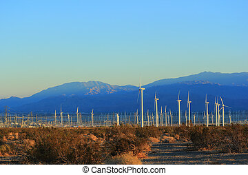 Electricity from Wind - Electric Power Plant driven by Wind,...