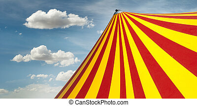 Circus dome - Red and yellow circus dome