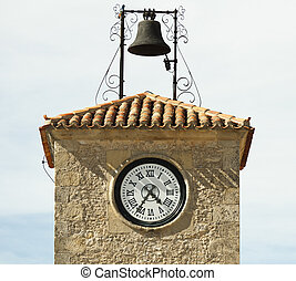 Antique clock on a building