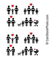 alegre, lesbiana, parejas, familia, ingenio