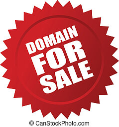 Domain for sale sticker, vector illustration