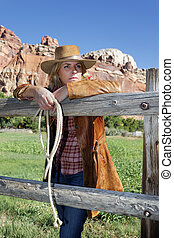 country style - Country style fashion portrait of a...
